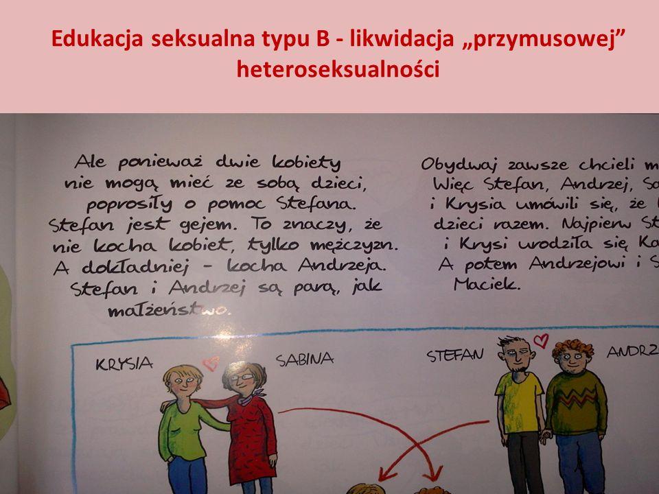 Edukacja seksualna typu B - likwidacja przymusowej heteroseksualności