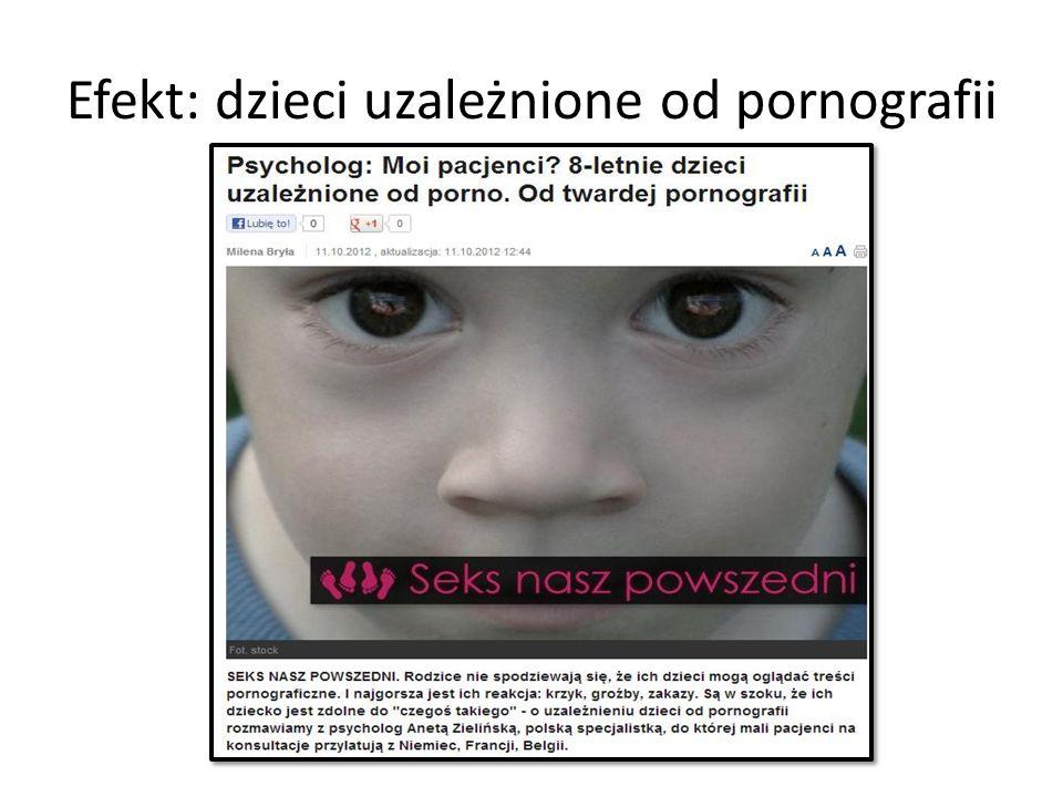 Efekt: dzieci uzależnione od pornografii