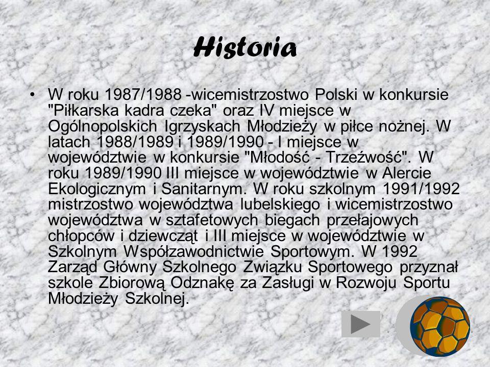Historia W roku szkolnym 1978/1979 biblioteka szkolna zajmuje I miejsce w województwie lubelskim w konkursie
