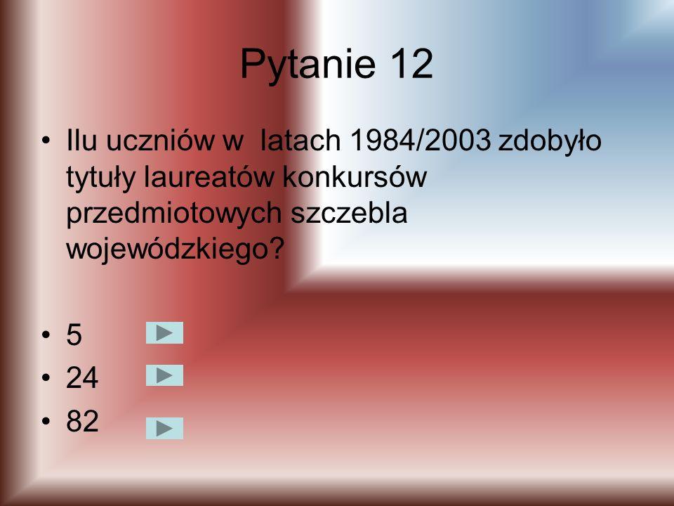 Pytanie 11 Które miejsce w roku szkolnym 1978/1979 zajmuje biblioteka szkolna województwie lubelskim w konkursie