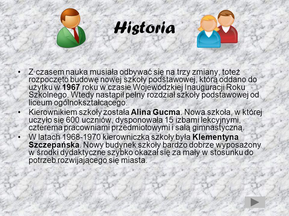 Historia Od roku szkolnego 2000/2001 funkcjonuje sześcioletnia Szkoła Podstawowa im.