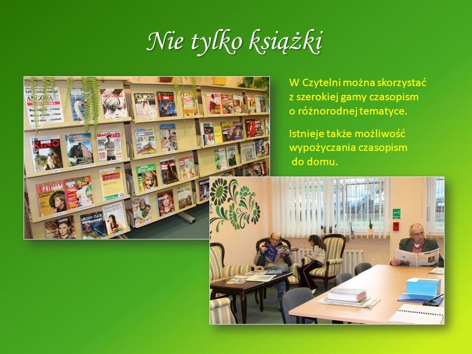 Nie tylko książki W Czytelni można skorzystać z szerokiej gamy czasopism o różnorodnej tematyce. Istnieje także możliwość wypożyczania czasopism do do