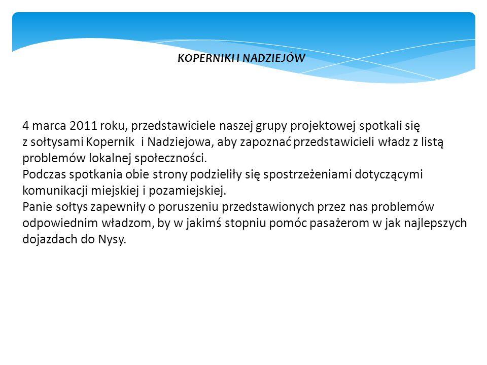 5 lutego 2011 roku, członkowie naszej grupy projektowej wybrali się do Łambinowic, do wójta gminy – pana Tomasza Karpińskiego. Spotkanie przebiegło sp