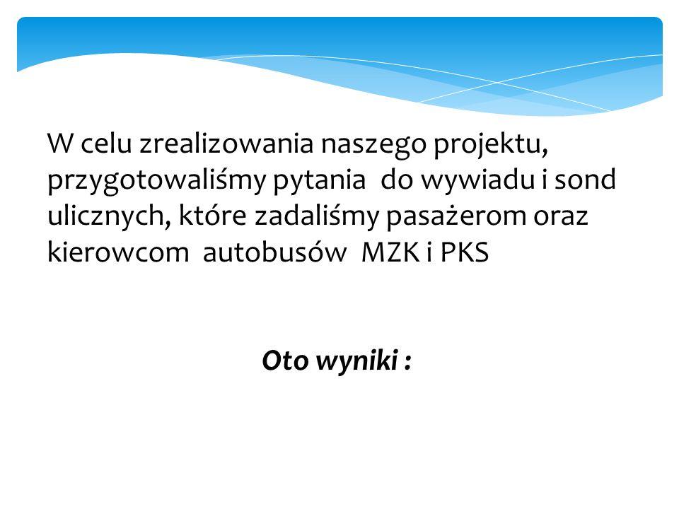 Opis problemu Dla nas, młodzieży, ważnym problemem jest spóźnianie się autobusów PKS i MZK oraz zbyt mała ilość kursujących na trasach naszych dojazdó