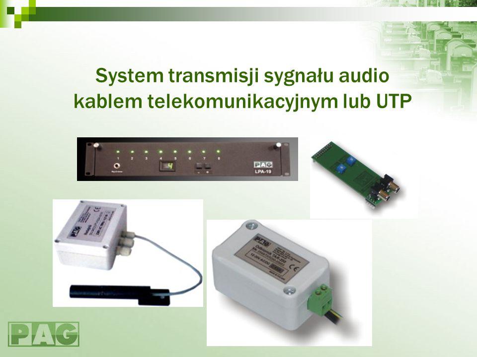 Eliminowanie dużych wartości sygnału współbieżnego U c >U in max NadajnikOdbiornik Sprzężenie rezystorowe - stosowane w transmisji różnicowej by ograniczyć wartość sygnału współbieżnego do wartości napięcia zasiania odbiornika, gdyż wtedy sygnał współbieżny jest odpowiednio dobrze tłumiony NadajnikOdbiornik Sprzężenie kondensatorowe -ogranicza wpływ składowej stałej sygnału współbieżnego UcUc U in