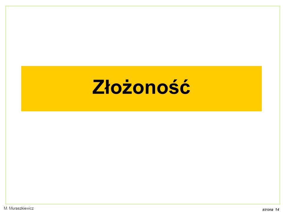 strona 14 M. Muraszkiewicz Złożoność