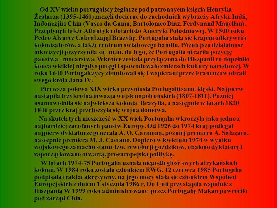 HISTORIA W starożytności terytorium dzisiejszej Portugalii zamieszkiwały plemiona luzytańskie i celtyckie. W III w p.n.e. zostały podbite przez Kartag