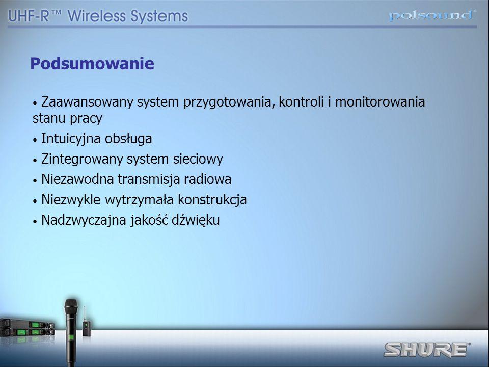 Podsumowanie Zaawansowany system przygotowania, kontroli i monitorowania stanu pracy Intuicyjna obsługa Zintegrowany system sieciowy Niezawodna transm