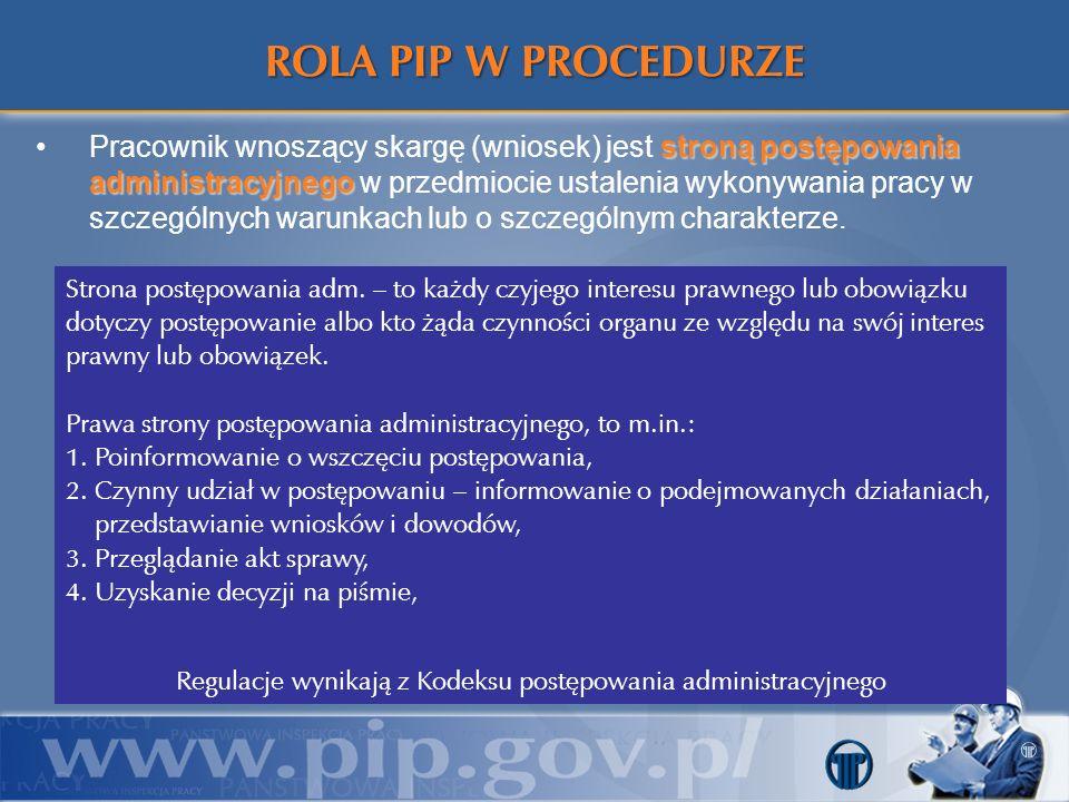 stroną postępowania administracyjnegoPracownik wnoszący skargę (wniosek) jest stroną postępowania administracyjnego w przedmiocie ustalenia wykonywani