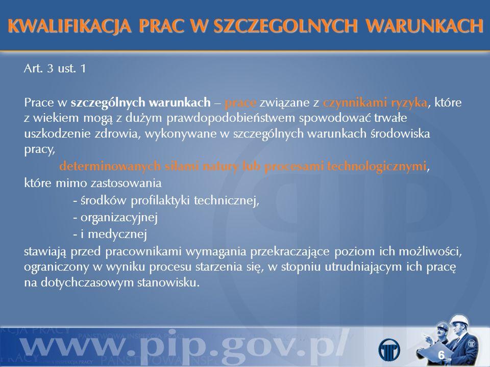 Znaczące różnice w zakresie prac (stanowisk pracy) w myśl starych przepisów (rozporządzenie Rady Ministrów z dnia 7 lutego 1983 r.