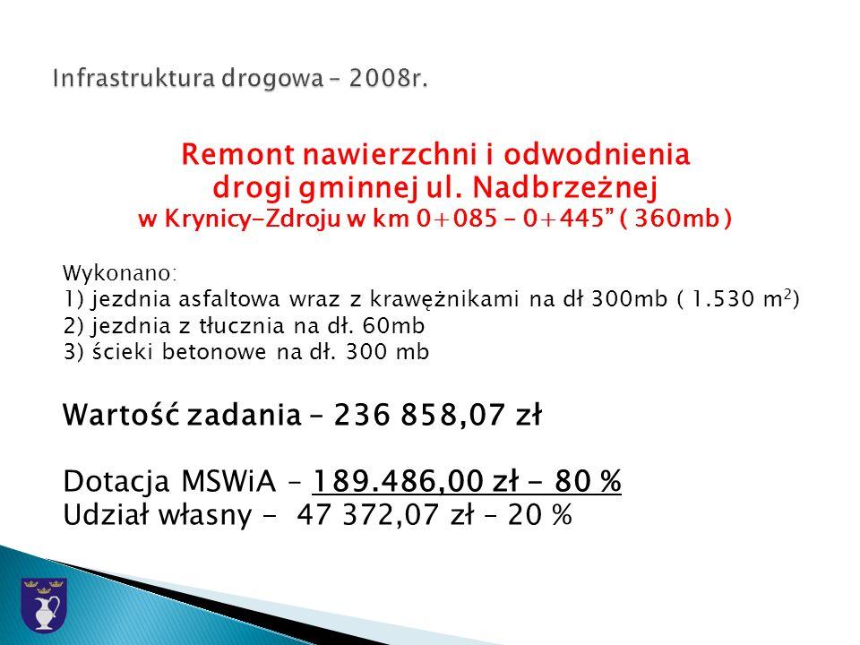 Remont nawierzchni i odwodnienia drogi gminnej ul.