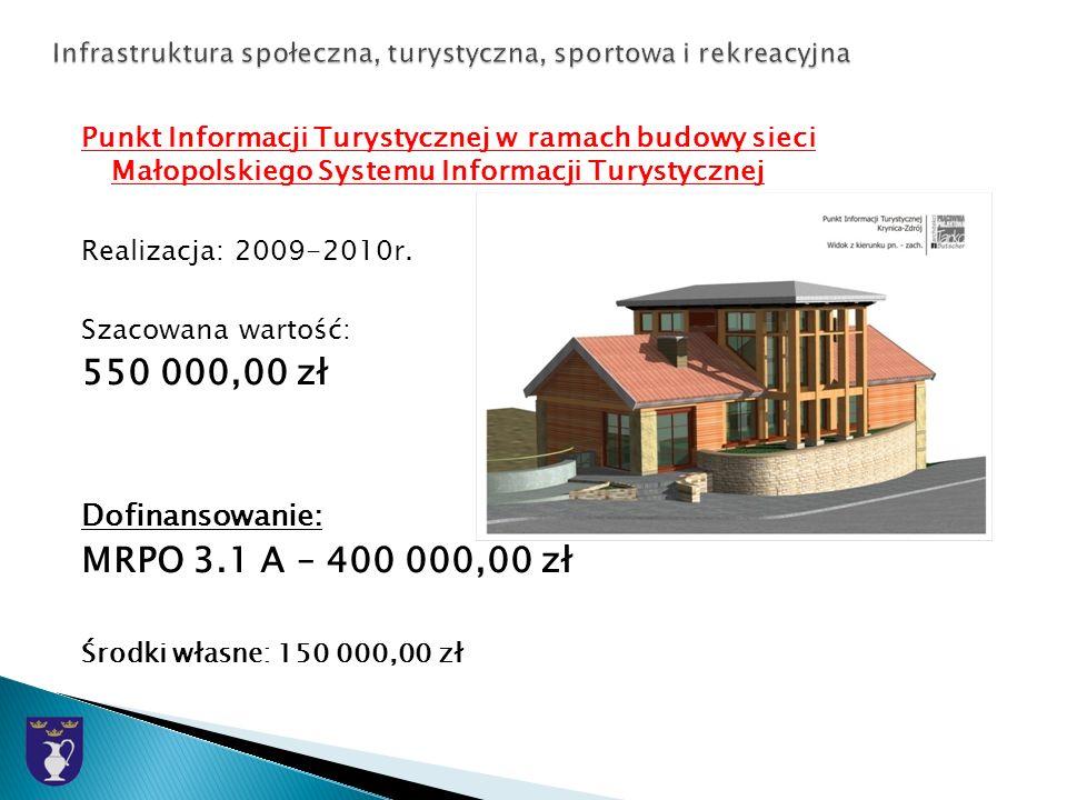 Punkt Informacji Turystycznej w ramach budowy sieci Małopolskiego Systemu Informacji Turystycznej Realizacja: 2009-2010r.