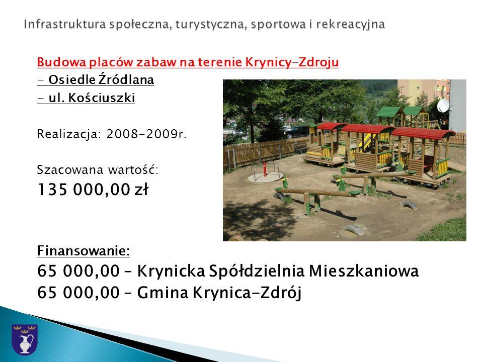 Budowa placów zabaw na terenie Krynicy-Zdroju - Osiedle Źródlana - ul.