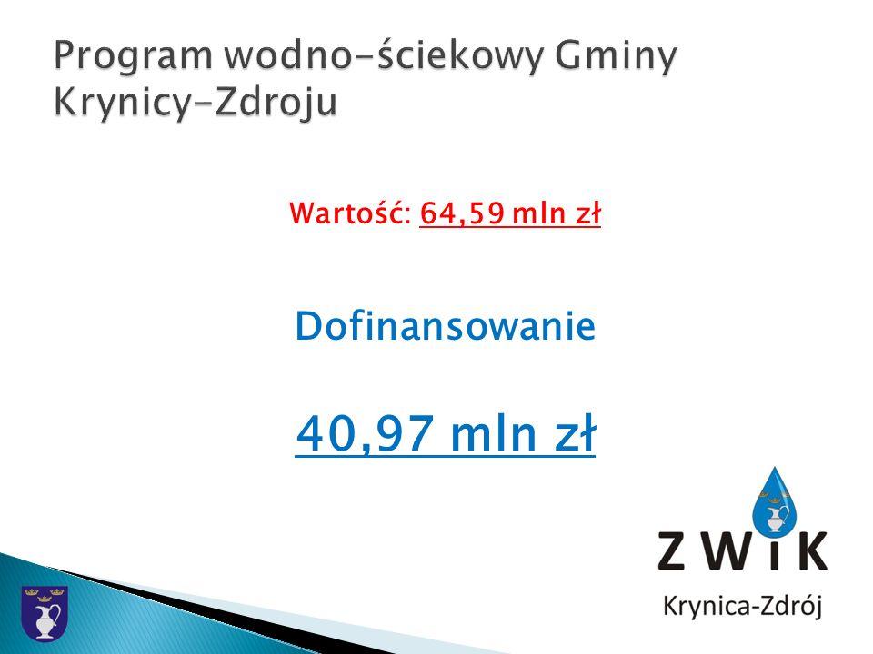 Wartość: 64,59 mln zł Dofinansowanie 40,97 mln zł
