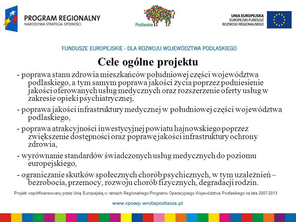 Projekt współfinansowany przez Unię Europejską w ramach Regionalnego Programu Operacyjnego Województwa Podlaskiego na lata 2007-2013 - poprawa stanu z