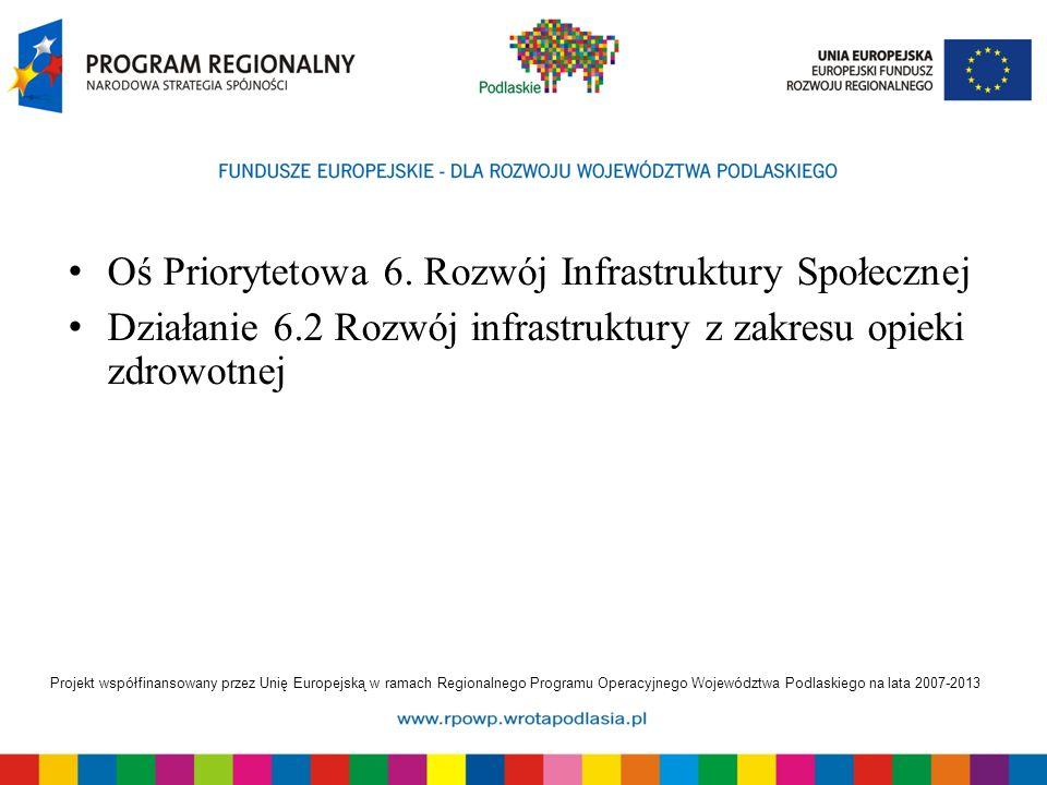 Projekt współfinansowany przez Unię Europejską w ramach Regionalnego Programu Operacyjnego Województwa Podlaskiego na lata 2007-2013 Oś Priorytetowa 6