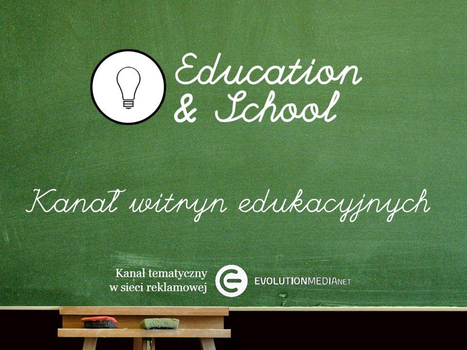 Kanał tematyczny w sieci reklamowej Kanał Education & School pozwala dotrzeć do najbystrzejszych internautów w Polsce: uczniów, studentów i innych osób związanych z oświatą.