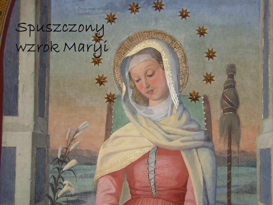 Spuszczony wzrok Maryi