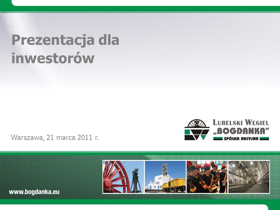 Warszawa, 21 marca 2011 r. Prezentacja dla inwestorów