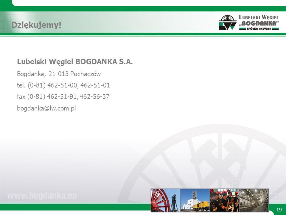 Lubelski Węgiel BOGDANKA S.A. Bogdanka, 21-013 Puchaczów tel.