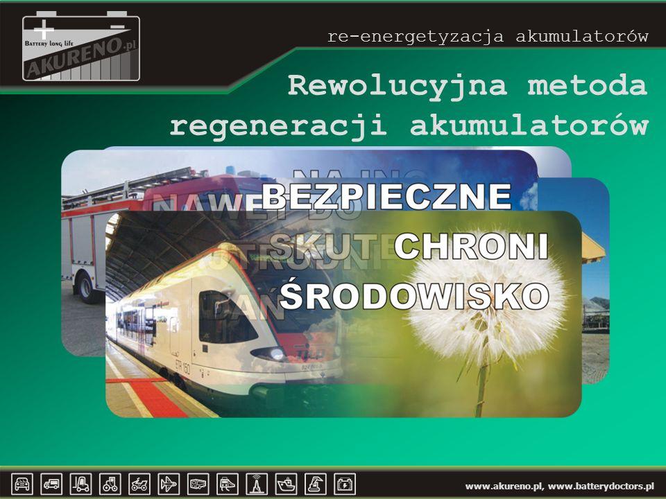 www.akureno.pl, www.batterydoctors.pl Rewolucyjna metoda regeneracji akumulatorów re-energetyzacja akumulatorów
