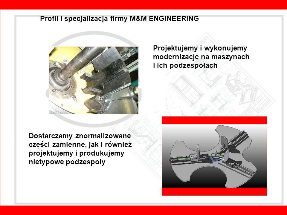 Między innymi mogą Państwo na nas liczyć w: - projektowaniu urządzeń mechanicznych, maszyn i ich podzespołów, - automatyzacji produkcji, - tworzeniu dokumentacji technicznych, rysunków wykonawczych i złożeniowych, - usprawnianiu i modernizacjach linii produkcyjnych, - pomocy przy utrzymaniu linii produkcyjnych w ruchu, - modyfikacjach i serwisie linii produkcyjnych, - wykonaniu zaprojektowanych urządzeń.