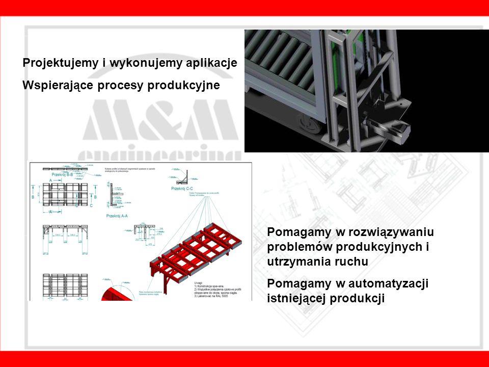 Projektujemy i wykonujemy aplikacje Wspierające procesy produkcyjne Pomagamy w rozwiązywaniu problemów produkcyjnych i utrzymania ruchu Pomagamy w automatyzacji istniejącej produkcji