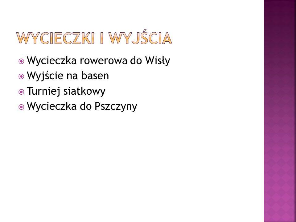 Wycieczka rowerowa do Wisły Wyjście na basen Turniej siatkowy Wycieczka do Pszczyny