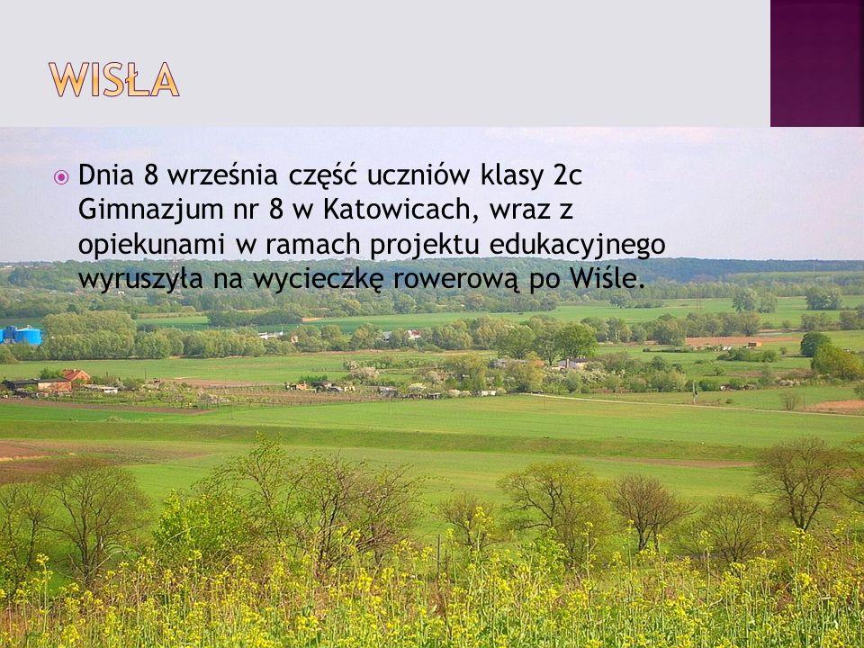Dnia 8 września część uczniów klasy 2c Gimnazjum nr 8 w Katowicach, wraz z opiekunami w ramach projektu edukacyjnego wyruszyła na wycieczkę rowerową po Wiśle.