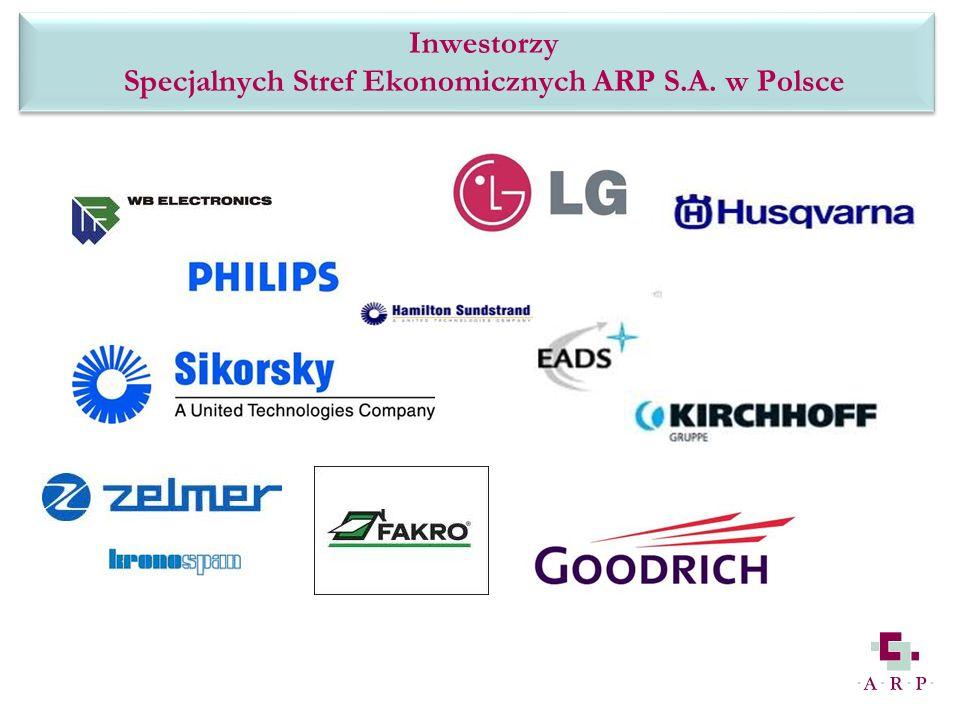 firmy jak: Inwestorzy Specjalnych Stref Ekonomicznych ARP S.A. w Polsce