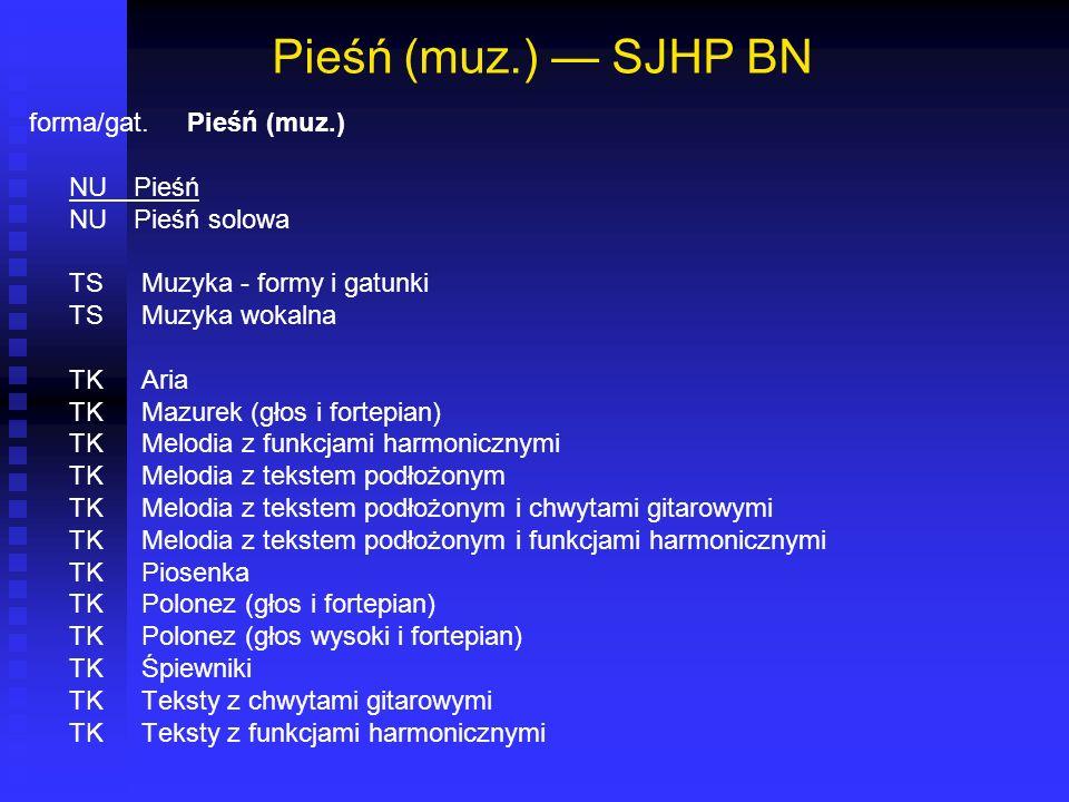 Pieśń (muz.) SJHP BN forma/gat. Pieśń (muz.) NU Pieśń NU Pieśń solowa TS Muzyka - formy i gatunki TS Muzyka wokalna TK Aria TK Mazurek (głos i fortepi