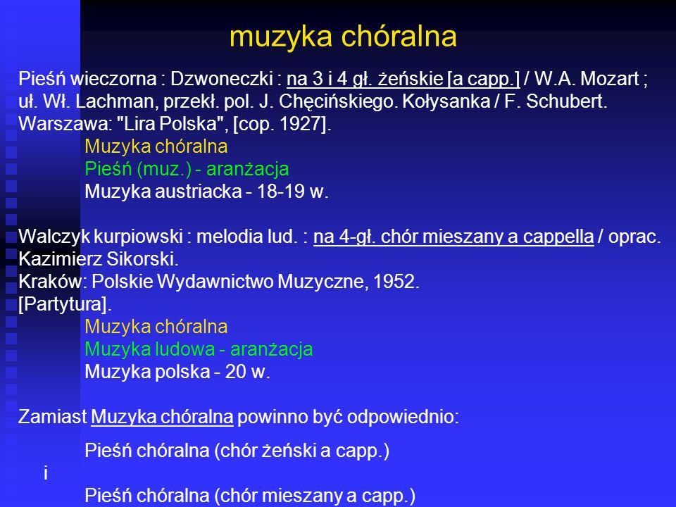muzyka chóralna Pieśń wieczorna : Dzwoneczki : na 3 i 4 gł. żeńskie [a capp.] / W.A. Mozart ; uł. Wł. Lachman, przekł. pol. J. Chęcińskiego. Kołysanka