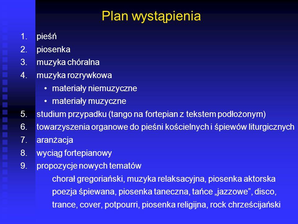 definicja Słowa poezj* śpiewan* występują w katlogu BN w 35 pozycjach...