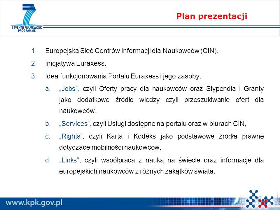 1.Europejska Sieć Centrów Informacji dla Naukowców (CIN).