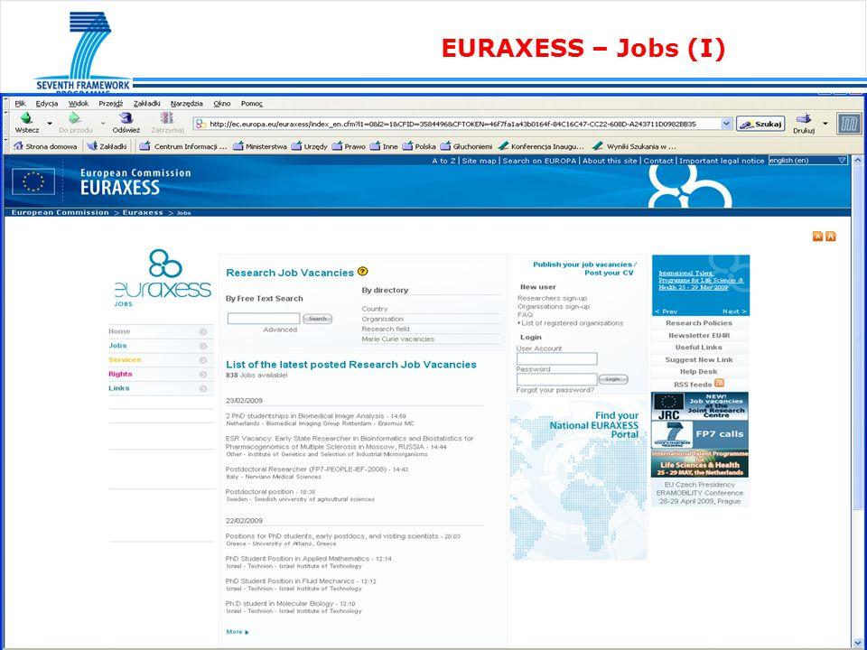 EURAXESS – Jobs (II)