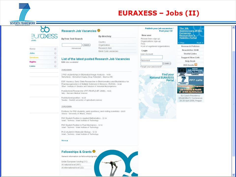 EURAXESS – Links (I)
