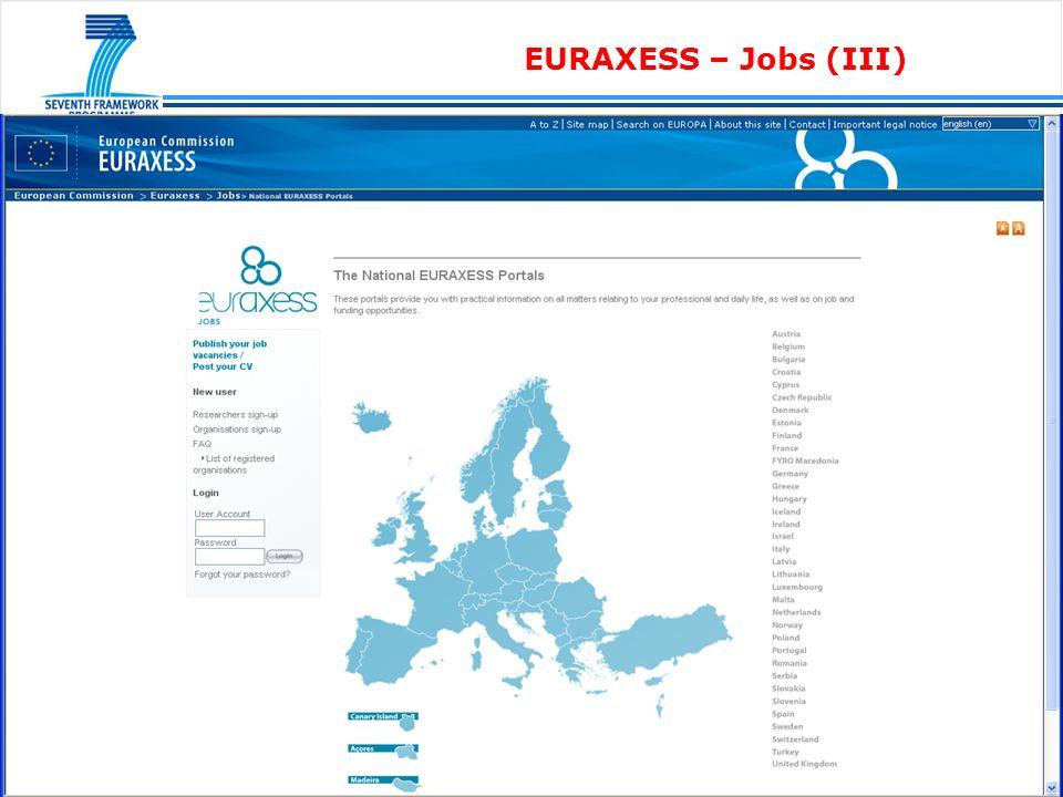 EURAXESS – Jobs (log-in) (I)