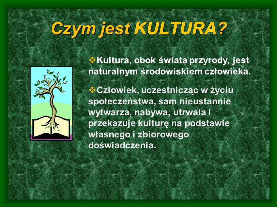 Kultura, obok świata przyrody, jest naturalnym środowiskiem człowieka.
