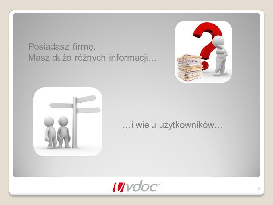 Posiadasz firmę. Masz dużo różnych informacji… 2 …i wielu użytkowników…
