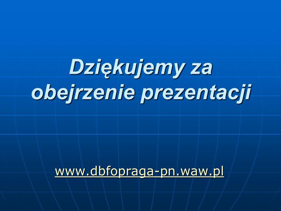 Dziękujemy za obejrzenie prezentacji www.dbfopraga-pn.waw.pl