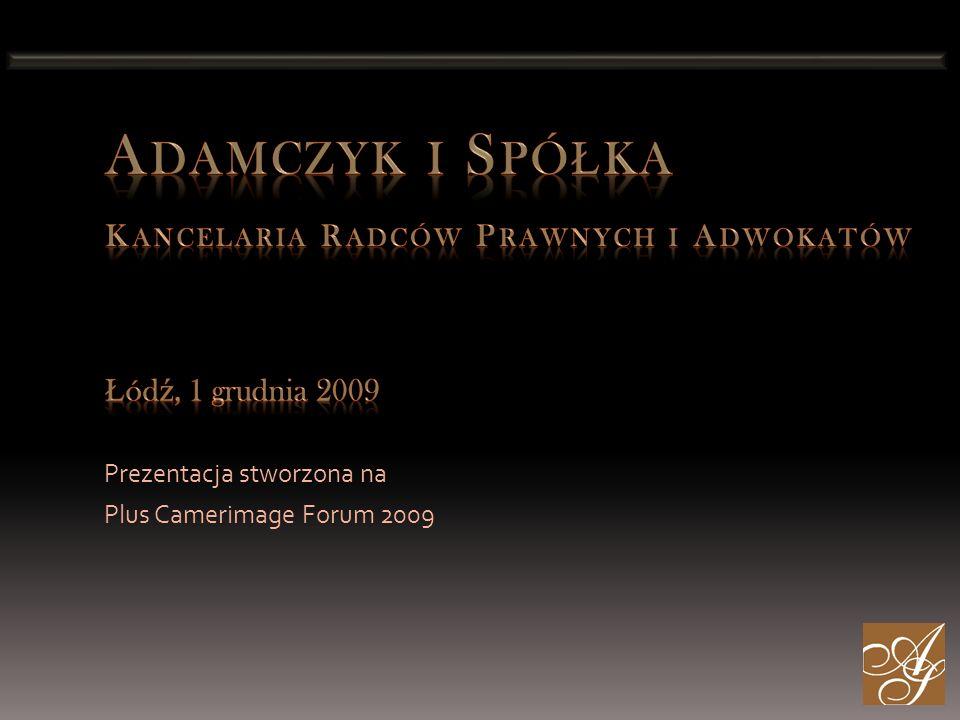 Prezentacja stworzona na Plus Camerimage Forum 2009