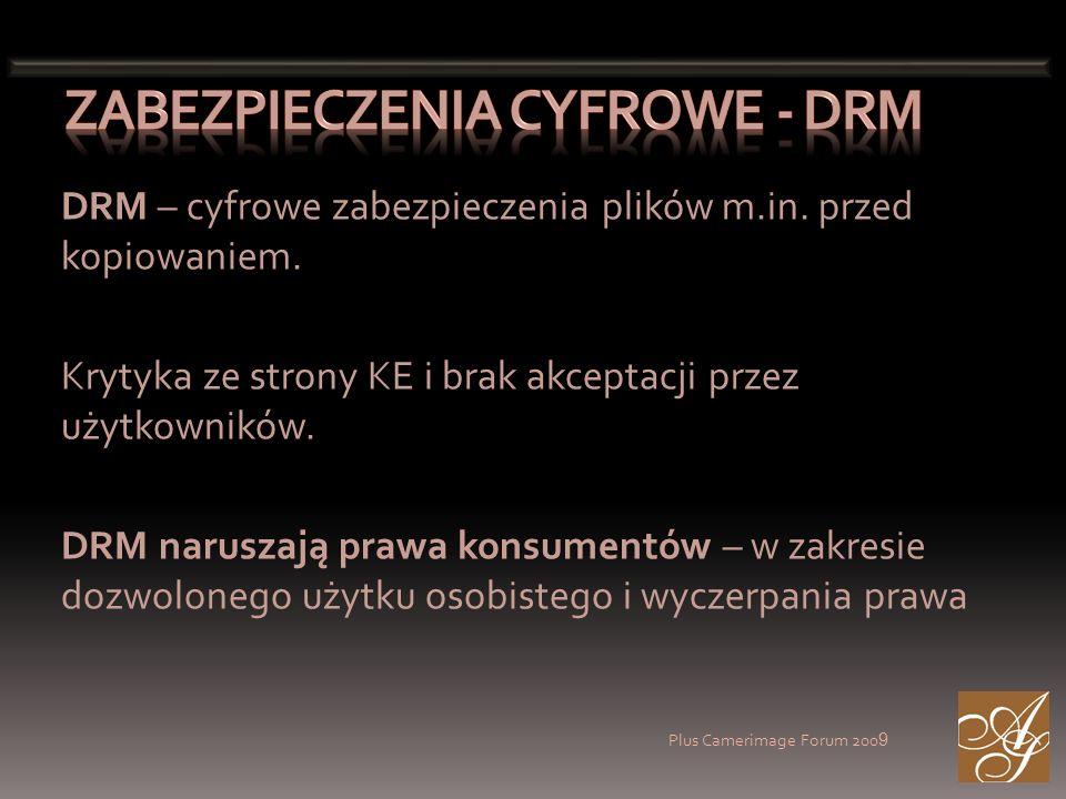 DRM – cyfrowe zabezpieczenia plików m.in. przed kopiowaniem.