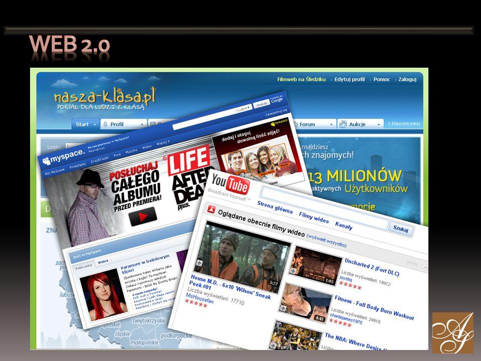 Udział usług z rodziny web 2.0 w tworzeniu współczesnych mediów staje się coraz większy.