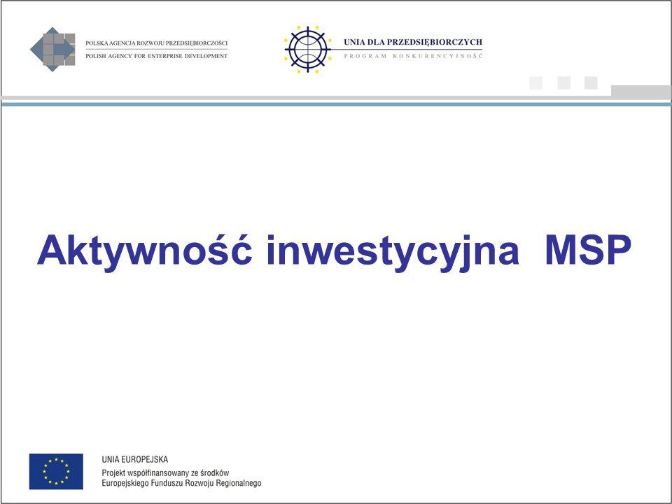 Aktywność inwestycyjna MSP