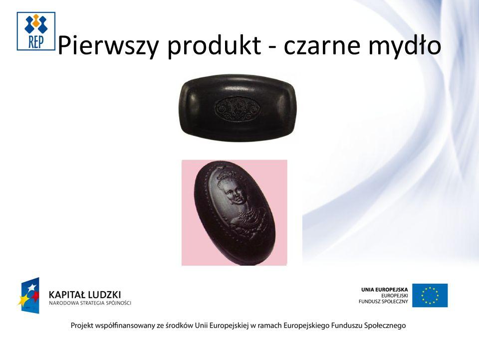 Pierwszy produkt - czarne mydło