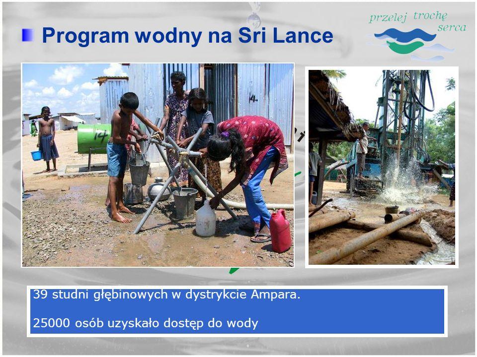 39 studni głębinowych w dystrykcie Ampara. 25000 osób uzyskało dostęp do wody Program wodny na Sri Lance