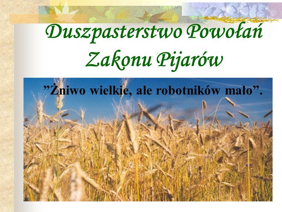 Duszpasterstwo Powołań Zakonu Pijarów Żniwo wielkie, ale robotników mało.