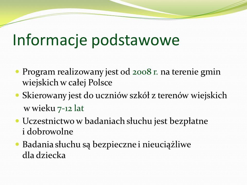 Informacje podstawowe Program realizowany jest od 2008 r. na terenie gmin wiejskich w całej Polsce Skierowany jest do uczniów szkół z terenów wiejskic