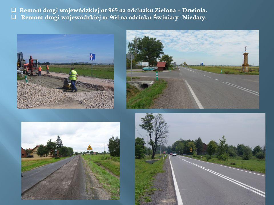 Remont drogi wojewódzkiej nr 965 na odcinaku Zielona – Drwinia.