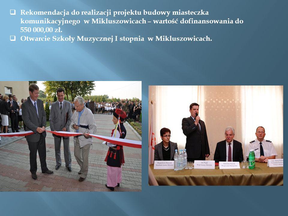 Budowa 4 placów zabaw w ramach rządowego programu Radosna szkoła – dotacja w wysokości prawie ćwierć miliona złotych.